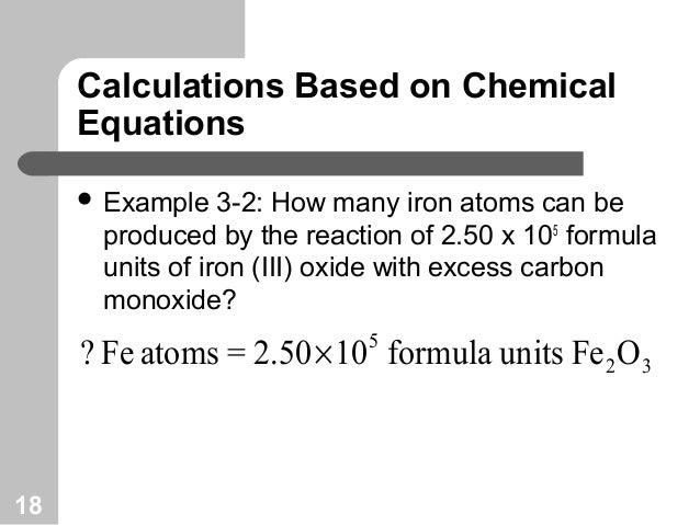 CHEMICAL EQUATIONS AND REACTION STOICHIOMETRY