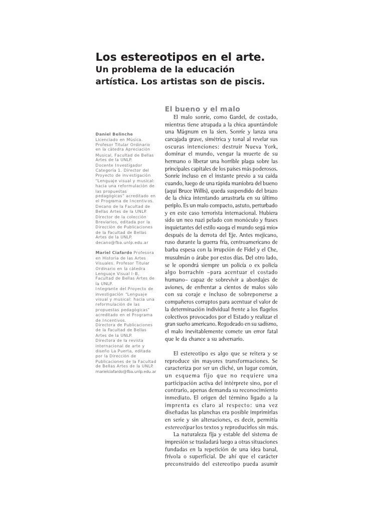 Estereotipos belinche www.fba.unlp.edu.ar