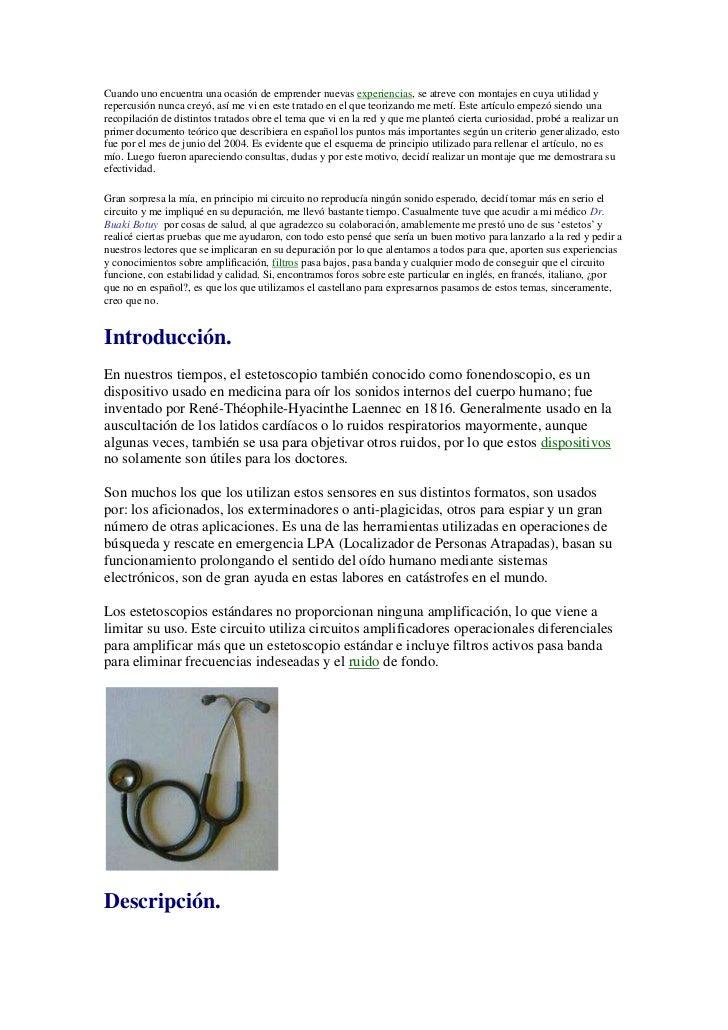 Estetoscopio digital