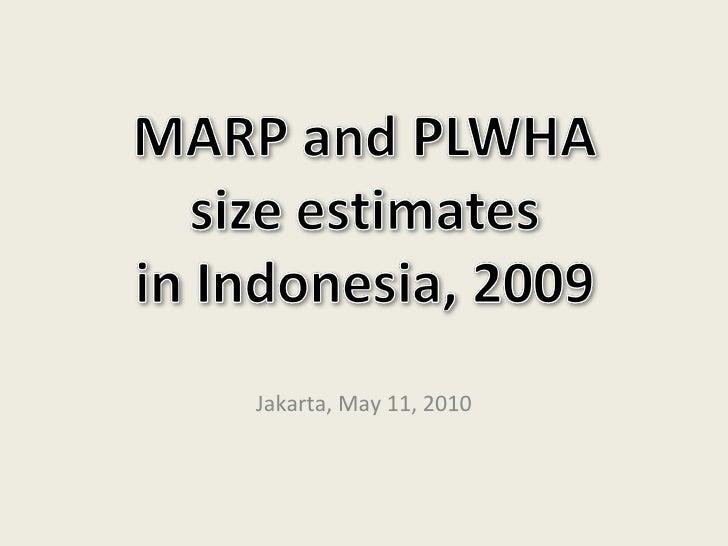 Estimasi Populasi Dewasa Rawan Terinfeksi HIV 2009