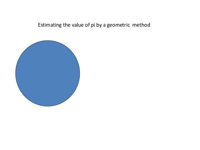 Estimating the value of pi by a geometric method