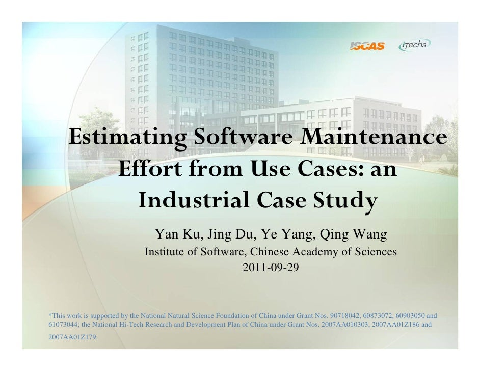 Industry - Estimating software maintenance effort from use cases an      industrial case study