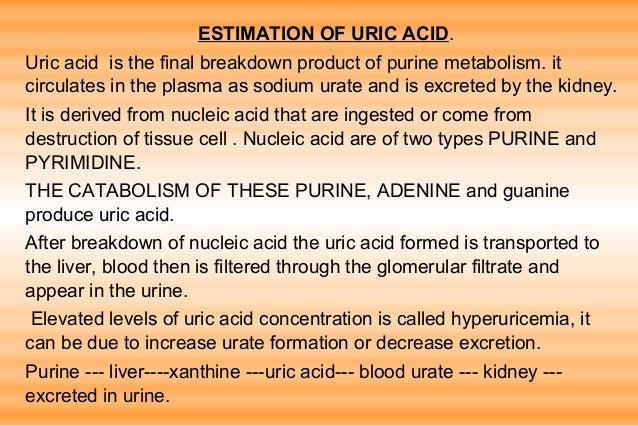 Estimation of uric acid