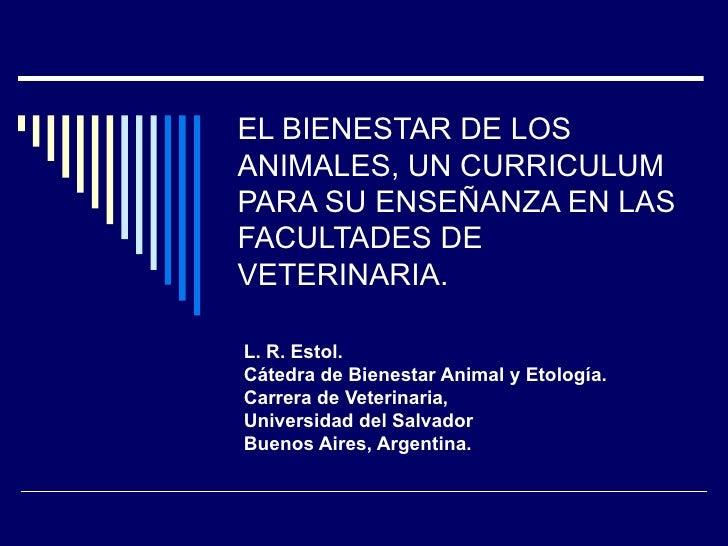 1ra. Conferencia Mundial Bienestar Animal OIE