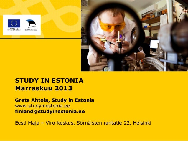 Study in Estonia 2013 short