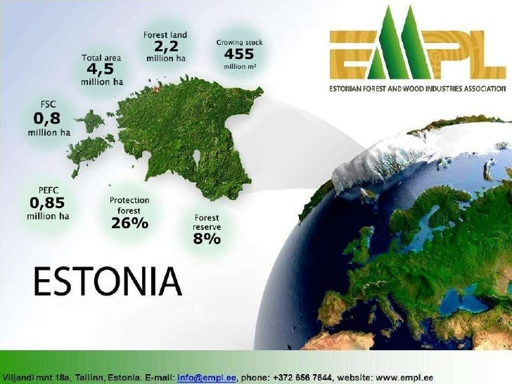 Introduction to Estonian forest and wood industry