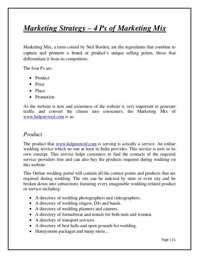 Bridal business plan sample