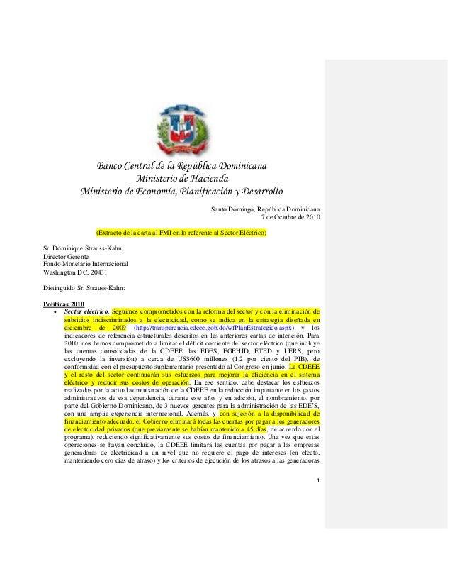 1 Banco Central de la República Dominicana Ministerio de Hacienda Ministerio de Economía, Planificación y Desarrollo Santo...