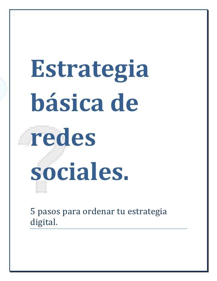 Estrategia de Marca en redes sociales