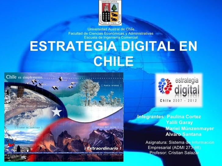 Universidad Austral de Chile Facultad de Ciencias Económicas y Administrativas Escuela de Ingeniería Comercial ESTRATEGIA ...