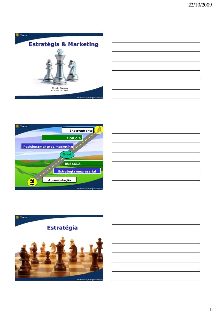 22/10/2009  Estratégia & Marketing               Claudio Nasajon               Outubro de 2009                            ...