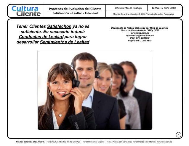 Procesos de Evolución del Cliente                                         Documento de Trabajo                      Fecha:...