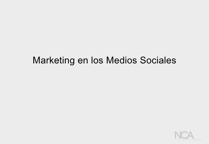 Marketing en los Medios Sociales