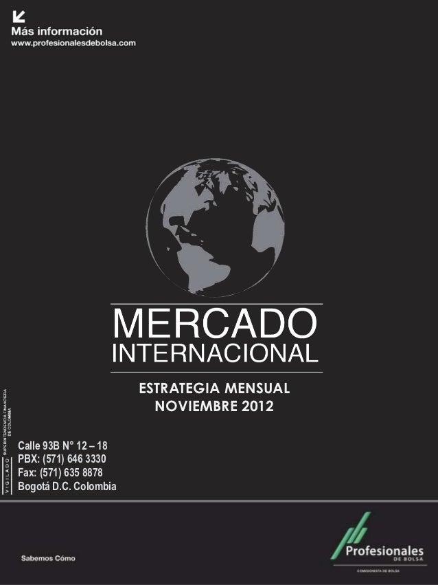 Mercado Internacional                        Junio 2012                        ESTRATEGIA MENSUAL                         ...