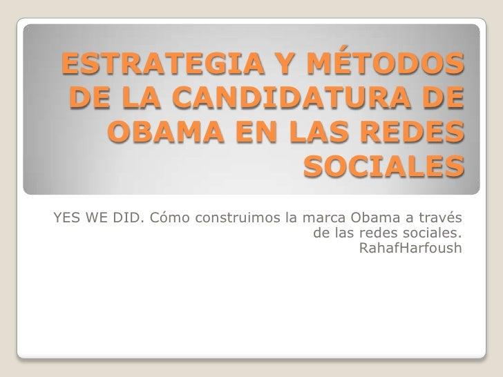 Estrategia Obama en redes sociales