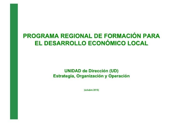 Estrategia Programa Formación DEL UD