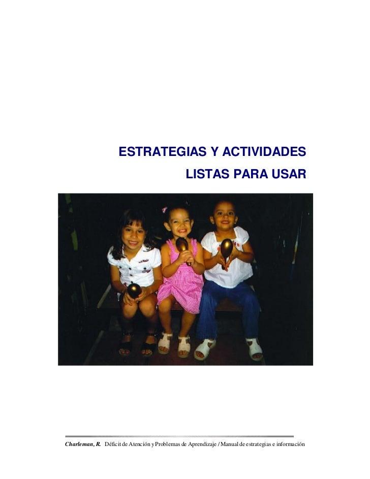 ESTRATEGIAS Y ACTIVIDADES                                                 LISTAS PARA USARCharleman, R. Déficit de Atenció...