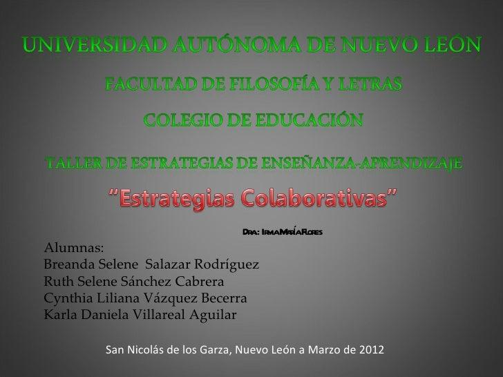 a ma aí l es                                  Dr .: Ir M raForAlumnas:Breanda Selene Salazar RodríguezRuth Selene Sánchez ...