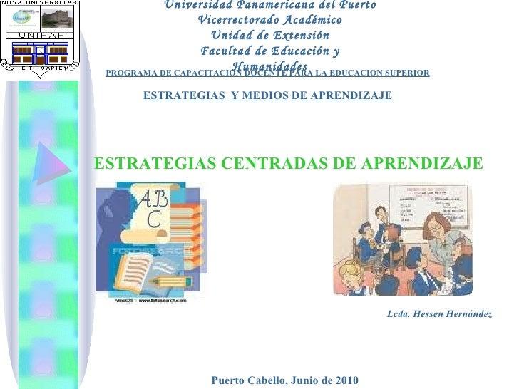 Universidad Panamericana del Puerto Vicerrectorado Académico Unidad de Extensión Facultad de Educación y Humanidades PROGR...