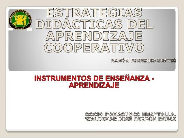 Estrategias de aprendizaje cooperativo