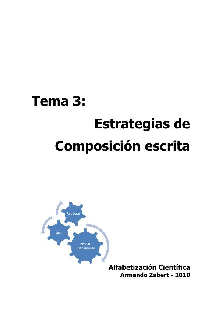Zabert, Armando - Estrategias De Composicion Escrita