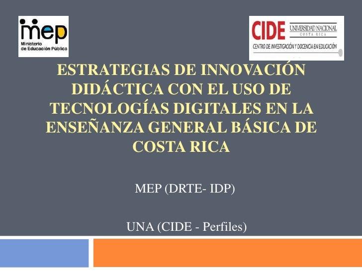 Estrategias de innovación  didáctica con el uso de