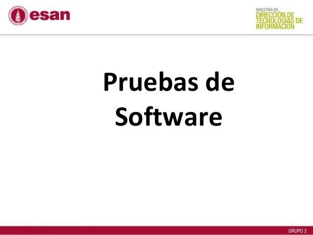 Estrategias de prueba de software