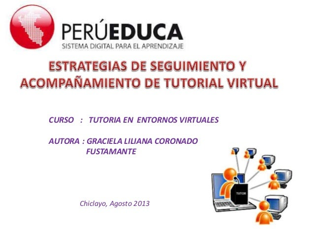 Estrategias de seguimiento de tutoria virtual
