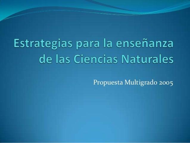 Estrategias para la enseñanza de las ciencias naturales
