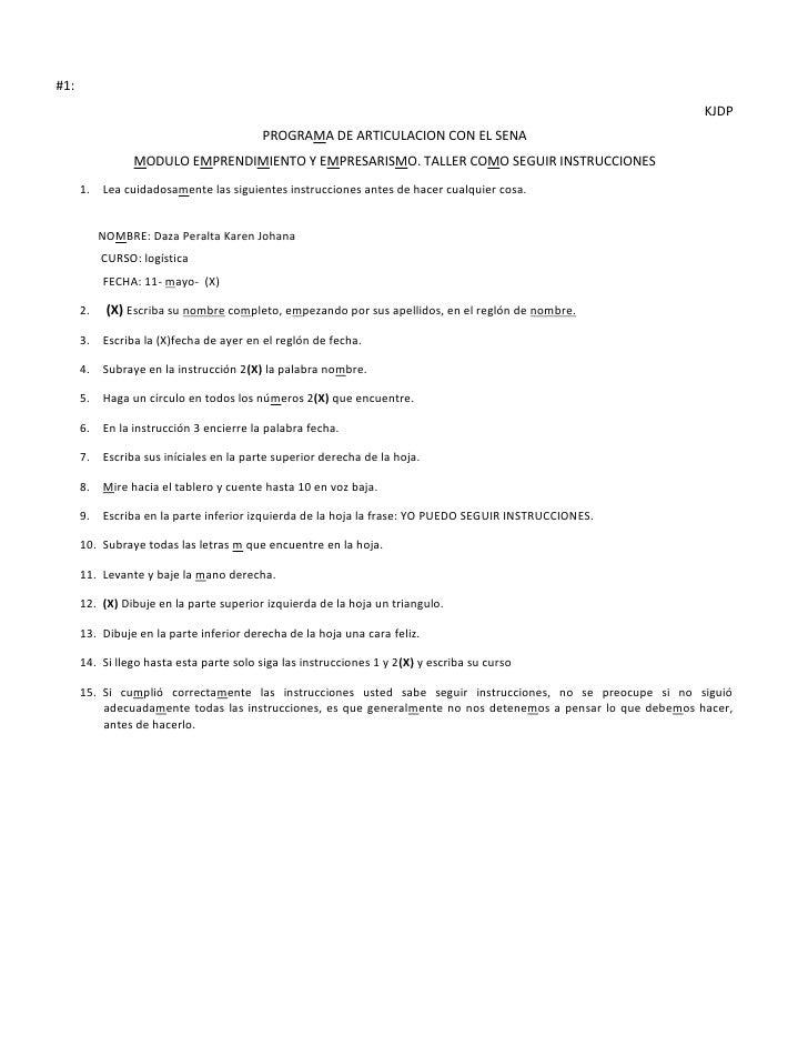 #1:<br />KJDP<br />PROGRAMA DE ARTICULACION CON EL SENA<br />MODULO EMPRENDIMIENTO Y EMPRESARISMO. TALLER COMO SEGUIR INST...