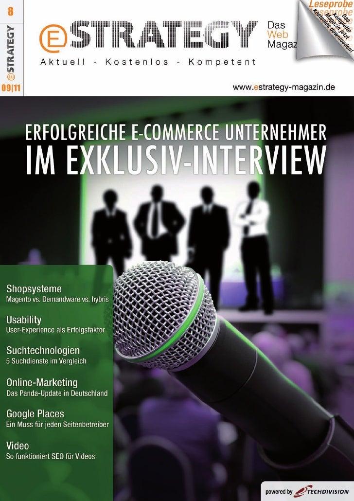 eStrategy-Magazin - Ausgabe 8 (Leseprobe)