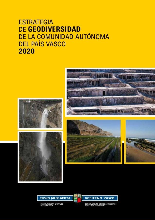 Estratetegia de Geodiversidad de la Comunidad Autónoma del País Vasco 2020