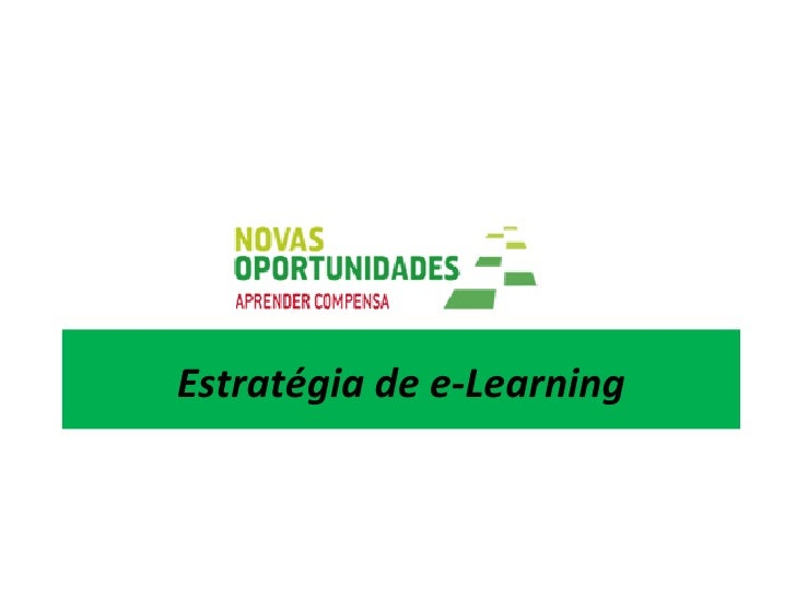 Estratégia de e-Learning