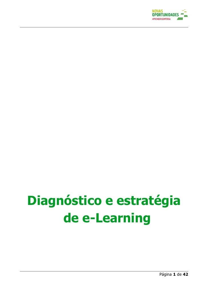 Diagnóstico e estratégia      de e-Learning                        Página 1 de 42