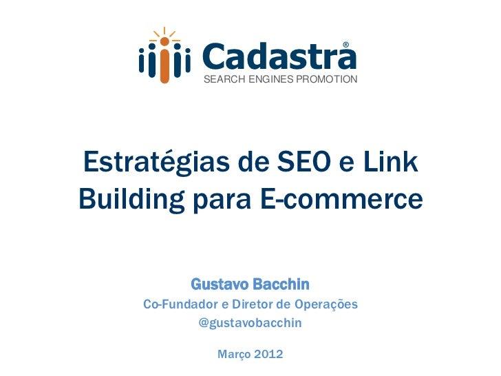 Estratégias de SEO e Link Building para E-commerce