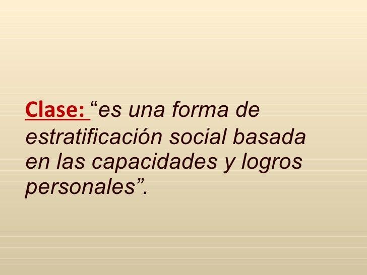 estratificacion social sociologia pdf