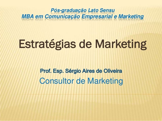 Estratratégia de Marketing - Aula 19_10_08