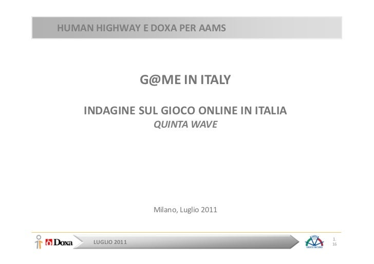 G@me in Italy - Edizione 2011