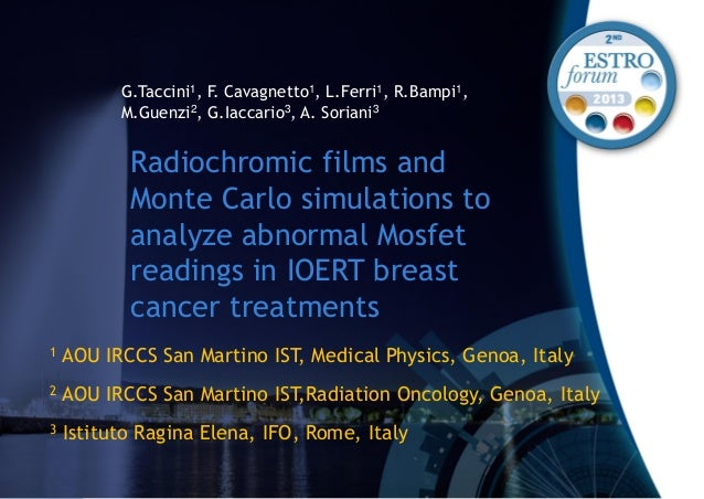 Radiochromic films and Monte Carlo simulations to analyze abnormal Mosfet readings in IOERT breast cancer treatments G.Tac...