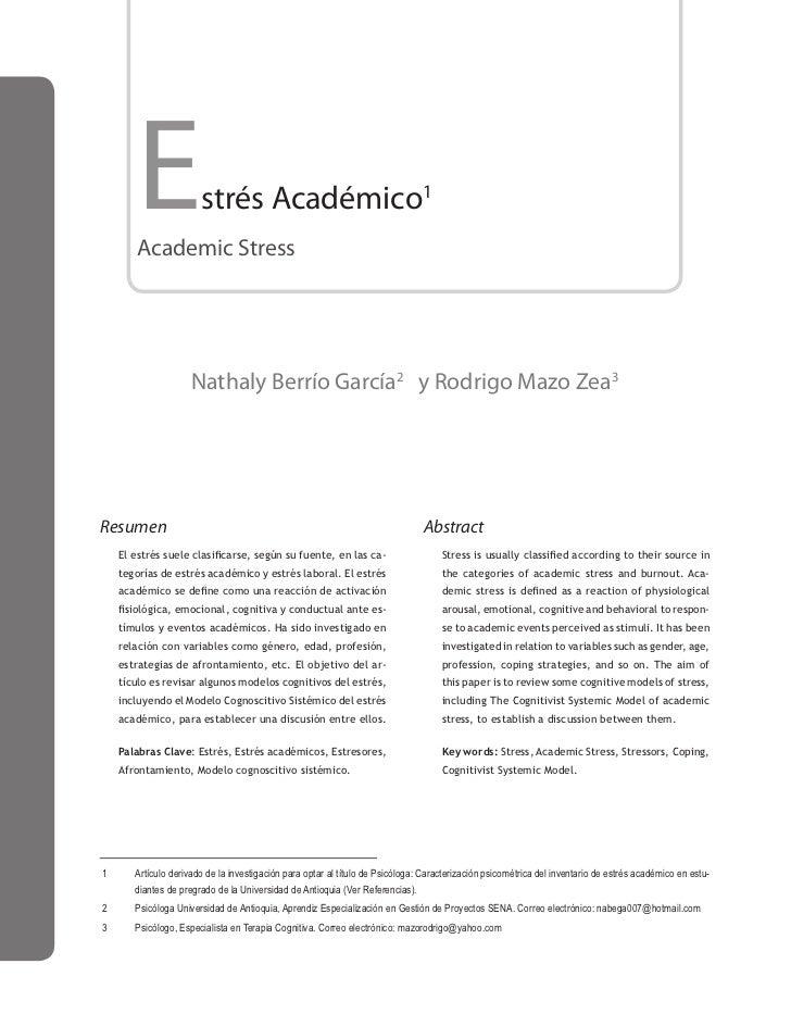 Estrés academicoo