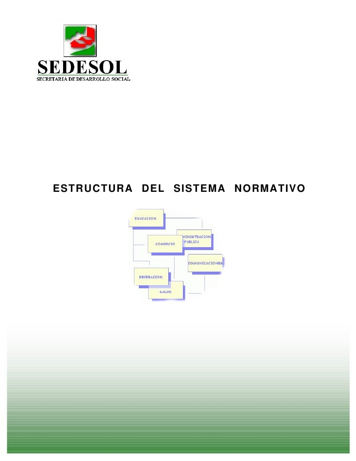 ESTRUCTURA DEL SISTEMA NORMATIVO