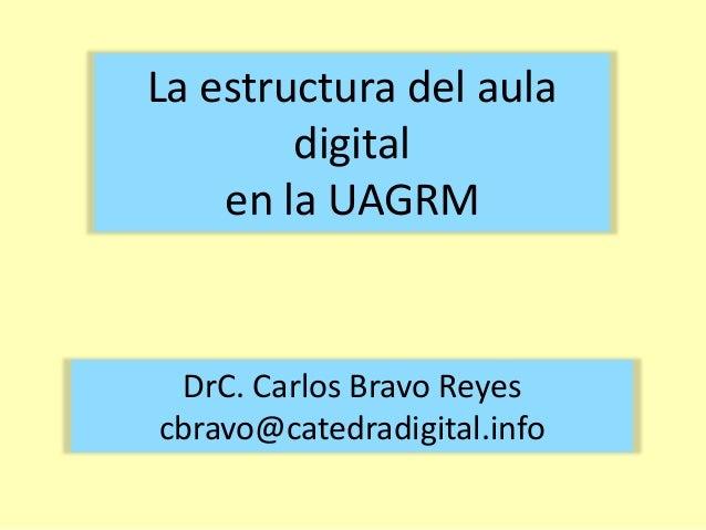 La estructura del aula digital en la UAGRM  DrC. Carlos Bravo Reyes cbravo@catedradigital.info