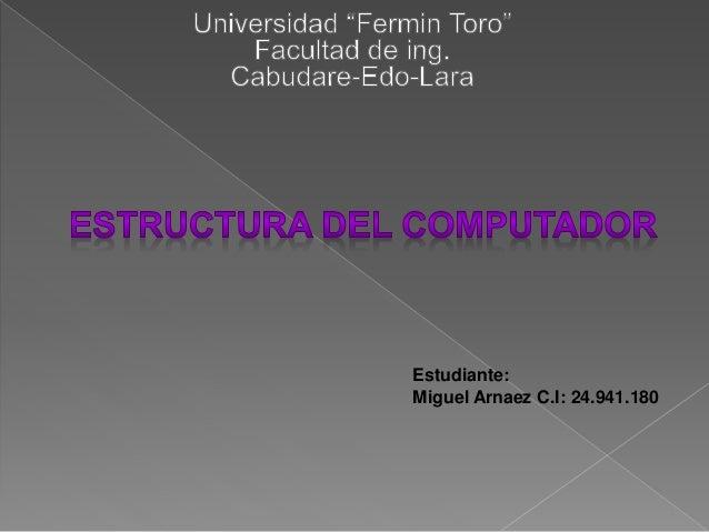 Estudiante: Miguel Arnaez C.I: 24.941.180