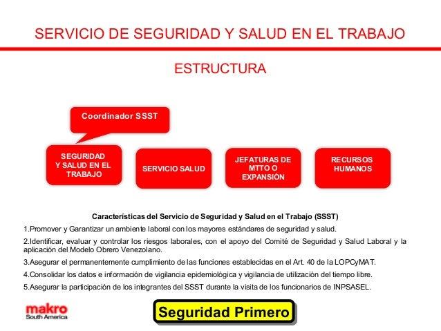 Estructura del servicio de seguridad y salud en el trabajo for Servicio de empleo