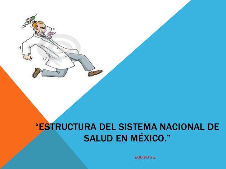 Estructura del sistema nacional de salud en