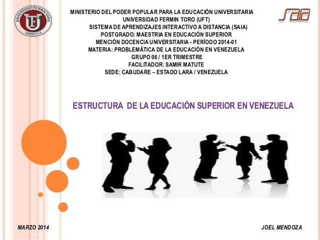 Estructura del Sistema Universitario Venezolano