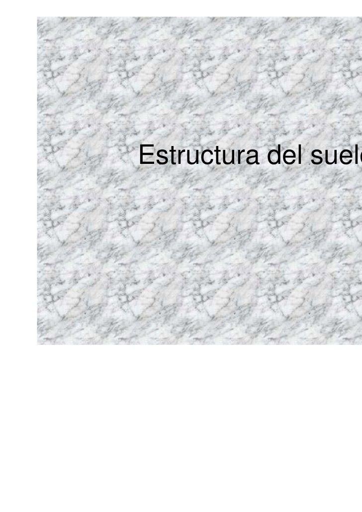 Estructura del suelo