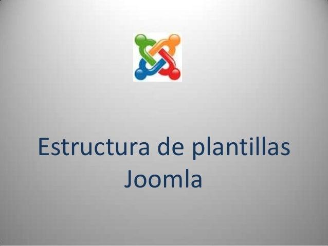 Estructura de plantillas        Joomla