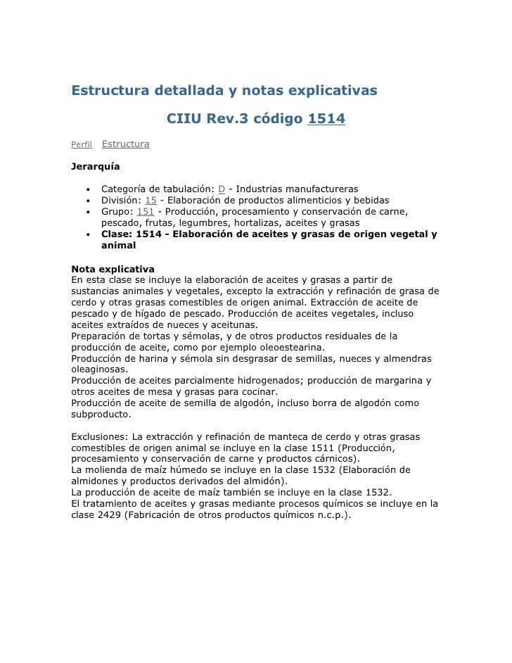 Estructura Detallada Y Notas Explicativas  C I I U
