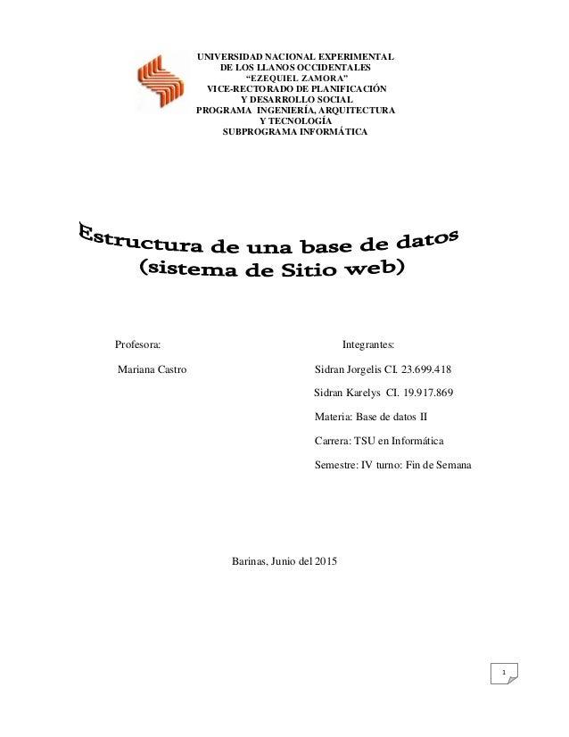 """1 UNIVERSIDAD NACIONAL EXPERIMENTAL DE LOS LLANOS OCCIDENTALES """"EZEQUIEL ZAMORA"""" VICE-RECTORADO DE PLANIFICACIÓN Y DESARRO..."""
